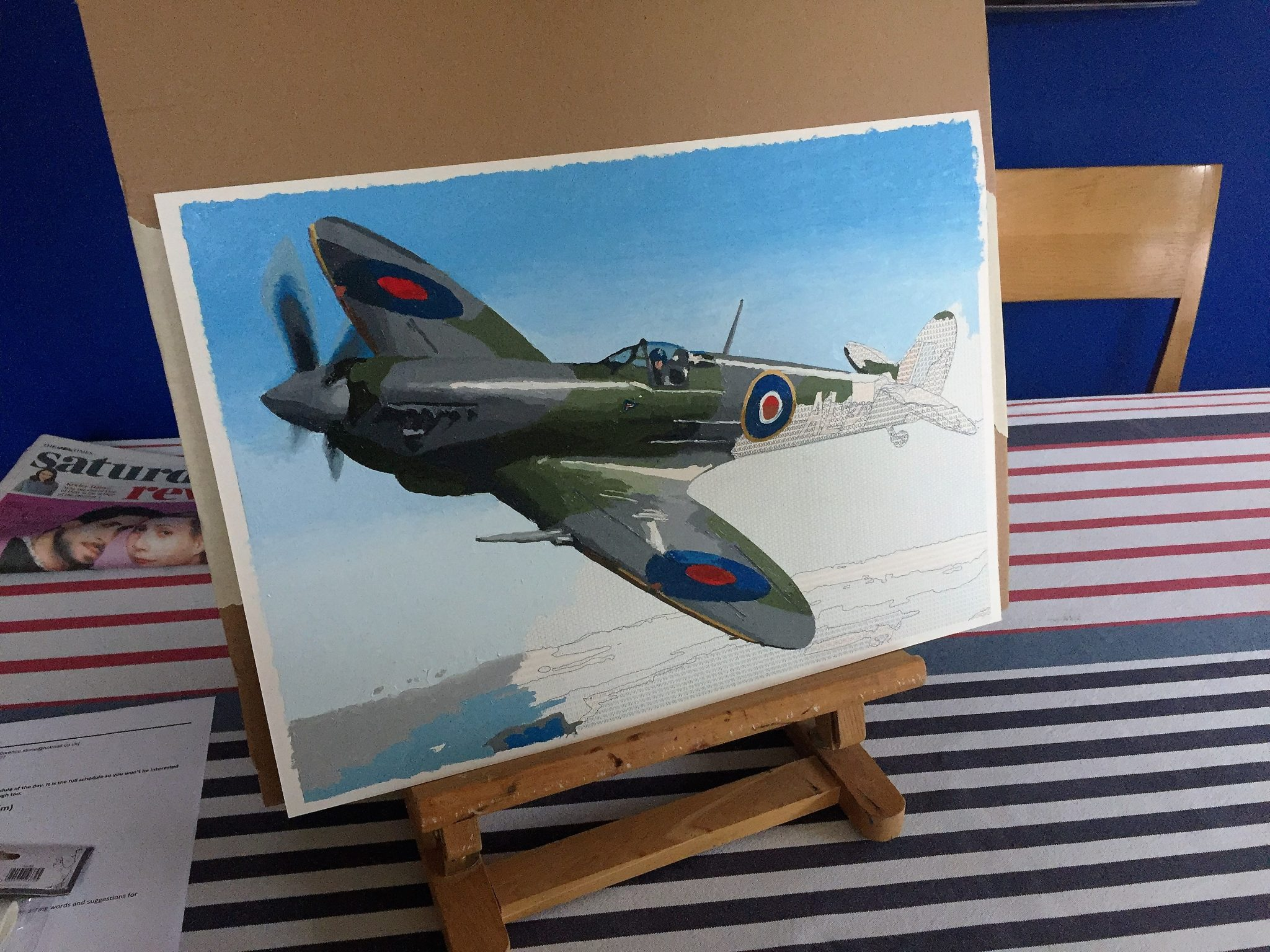 spitfire painting by numbers