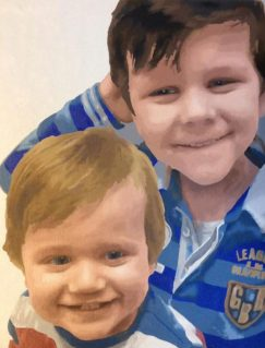 two brothers customised painting by number