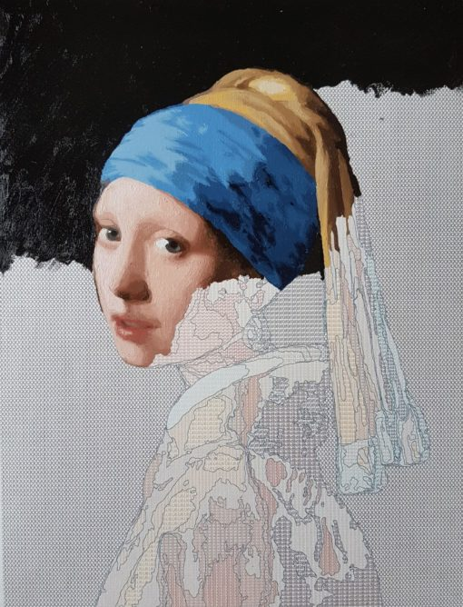 girl with a pearl earring oil painting kit