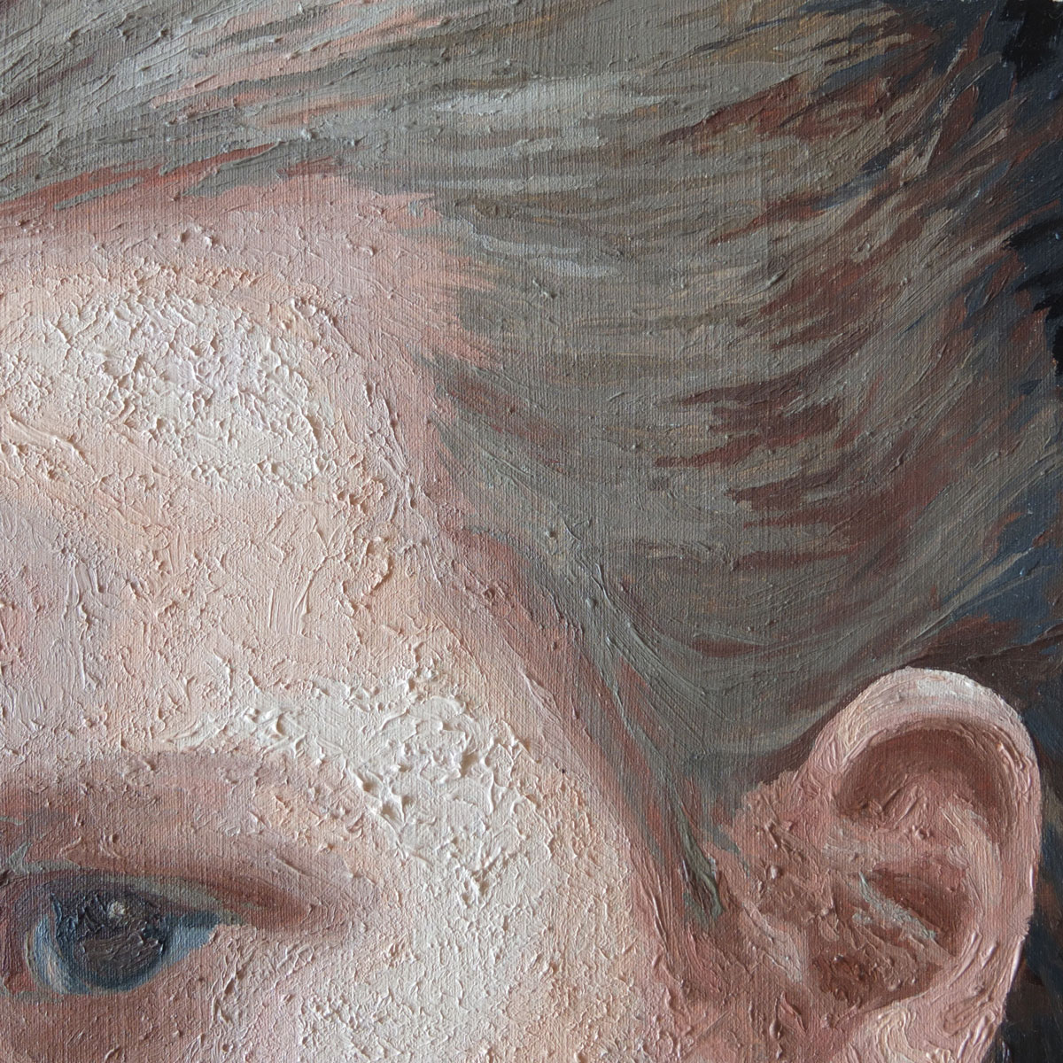close up texture of oil paints on paint by numbers
