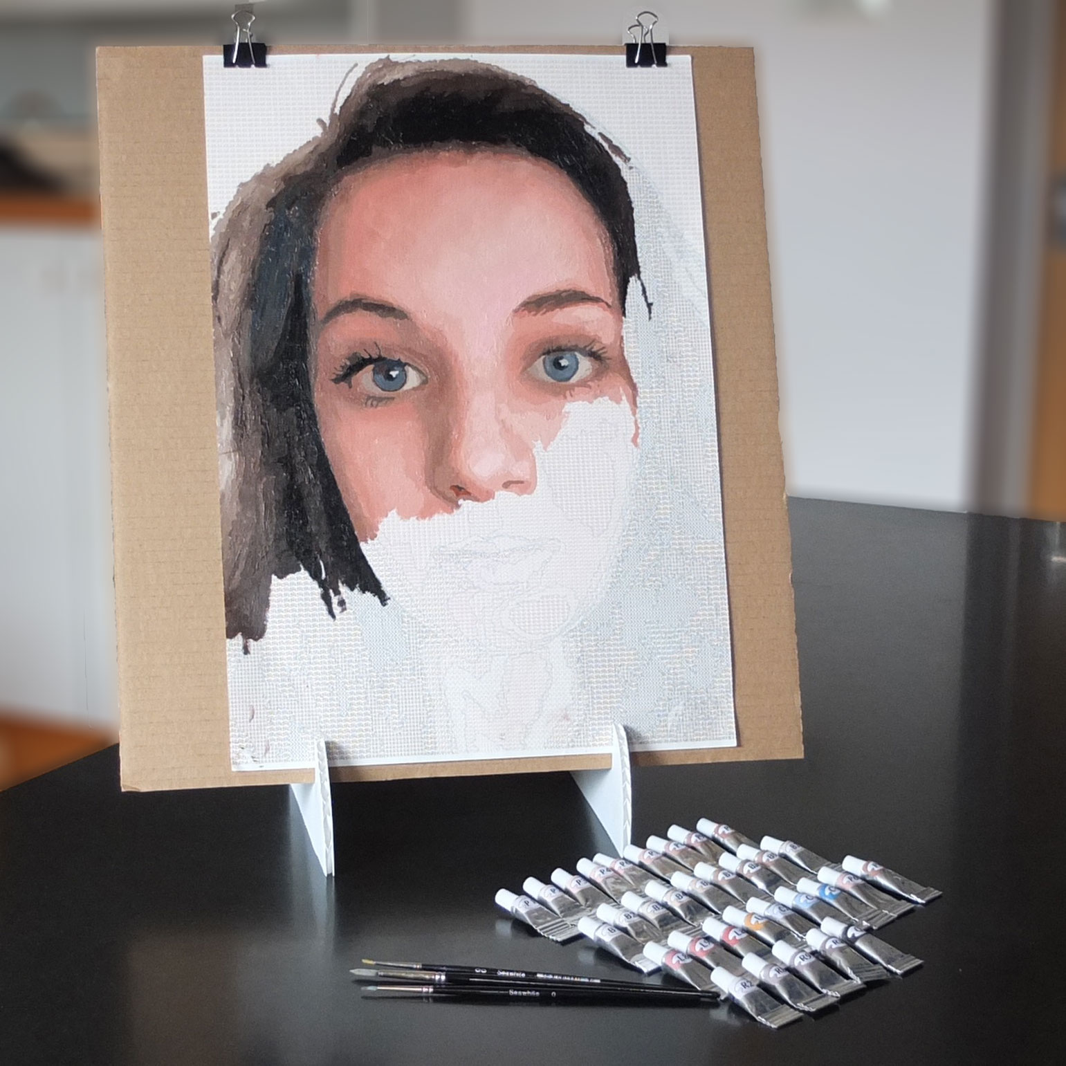 custom painting kits from photo portrait paint by number