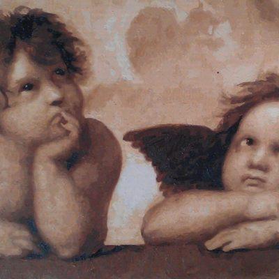 raphael cherubs finished painting kit