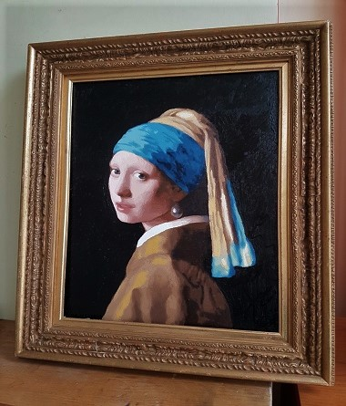 Finished kit Girl with a Pearl Earring