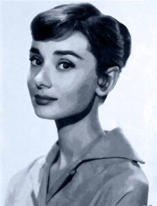 paint by numbers of Audrey Hepburn
