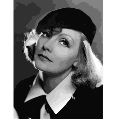 Greta Garbo paint by numbers