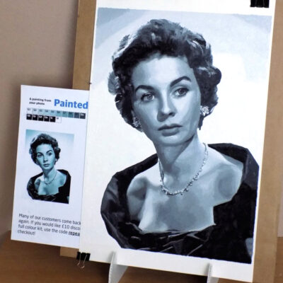 paint by numbers of Jean Simmons