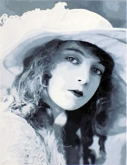Lillian Gish finished paint by numbers